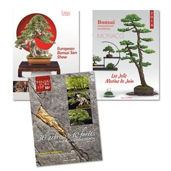 3 livres sur des expositions de Bonsaïs